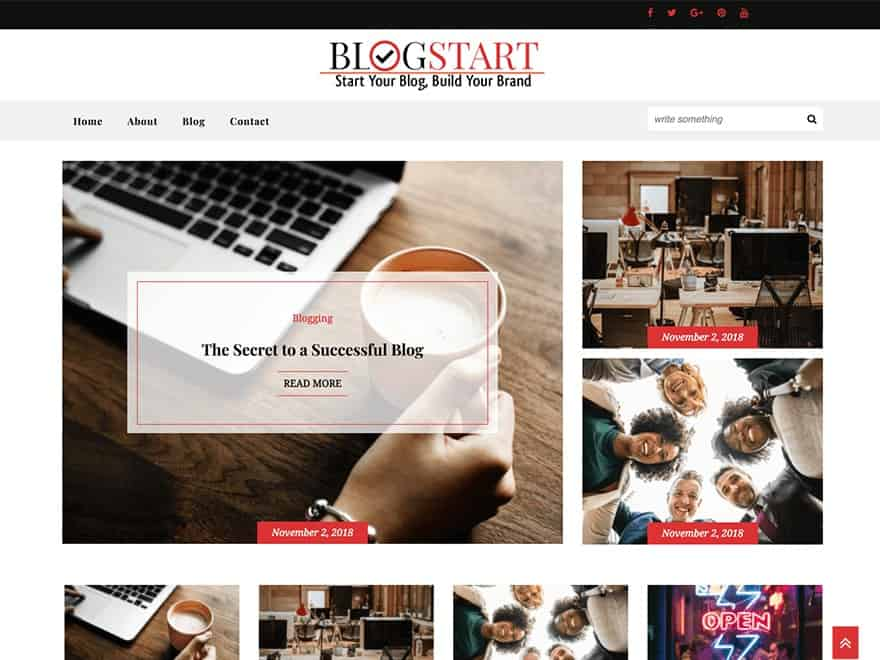 Blogstart WordPress blog theme