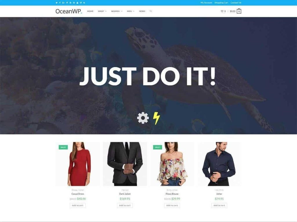 OceanWP WordPress blog theme