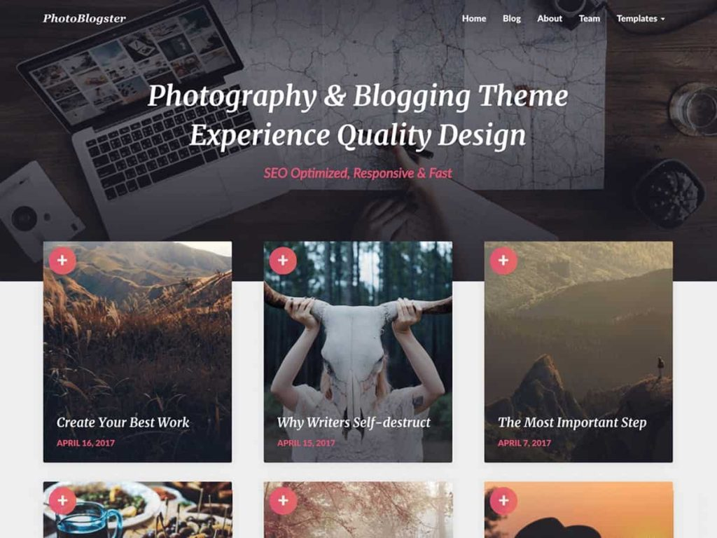 PhotoBlogster WordPress blog theme