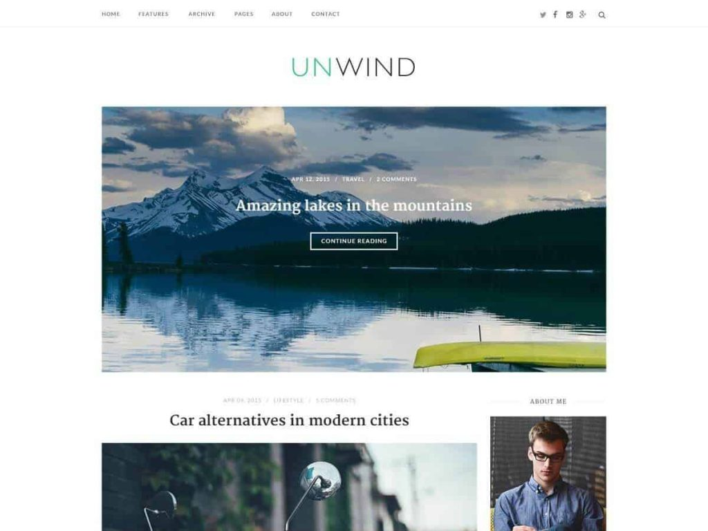 SiteOrigin Unwind WordPress theme