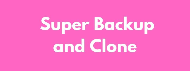 Super Backup and Clone
