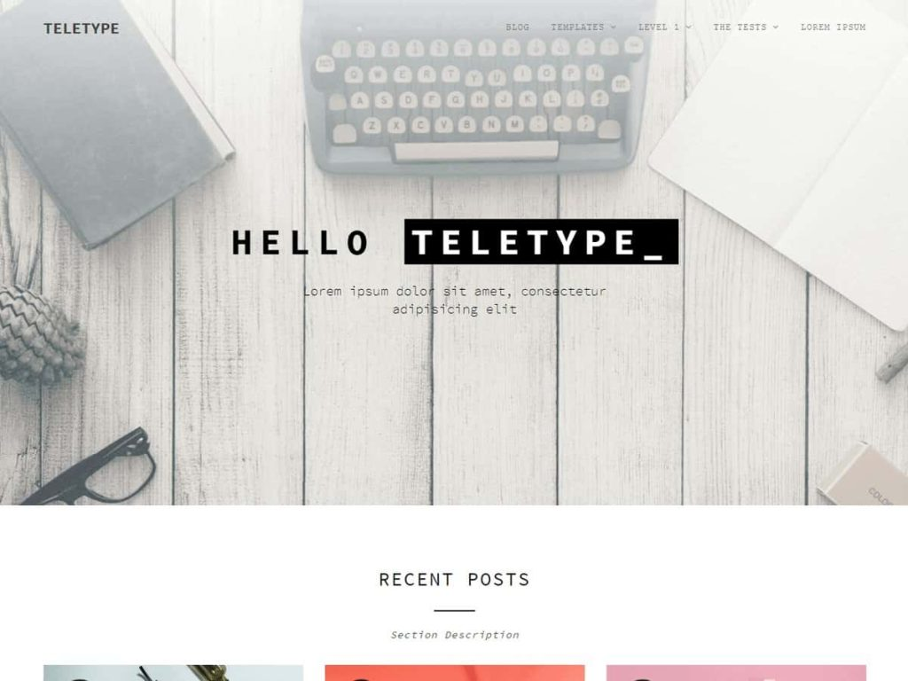 Teletype WordPress blog theme