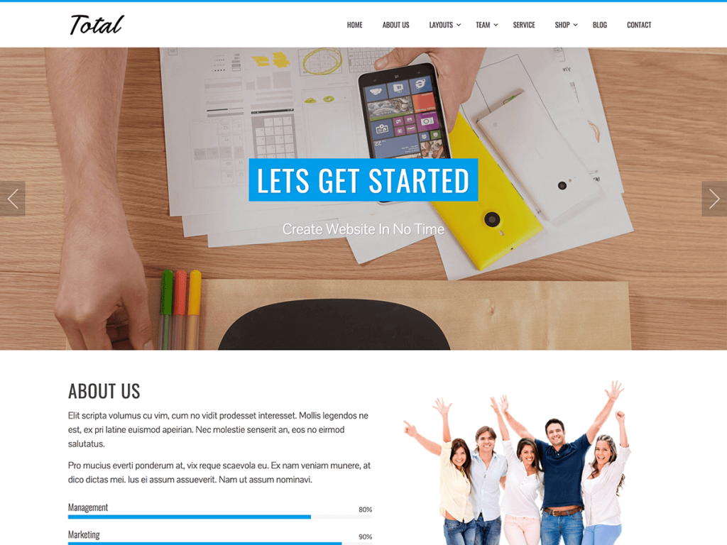 Total WordPress blog theme