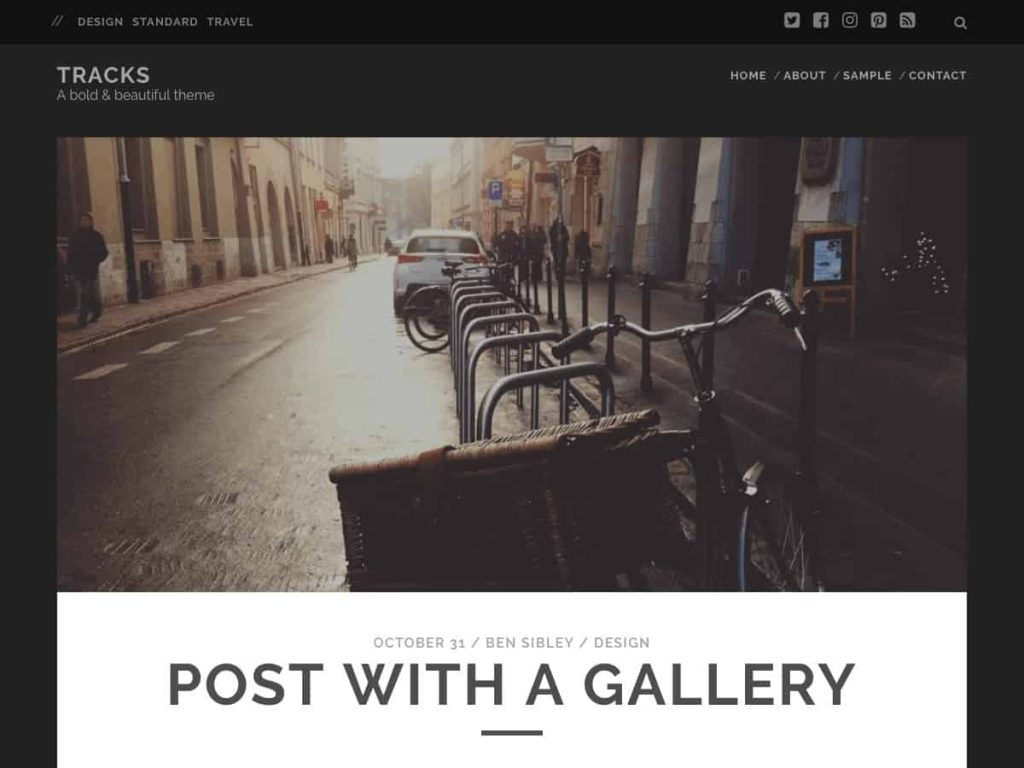 Tracks WordPress blog theme