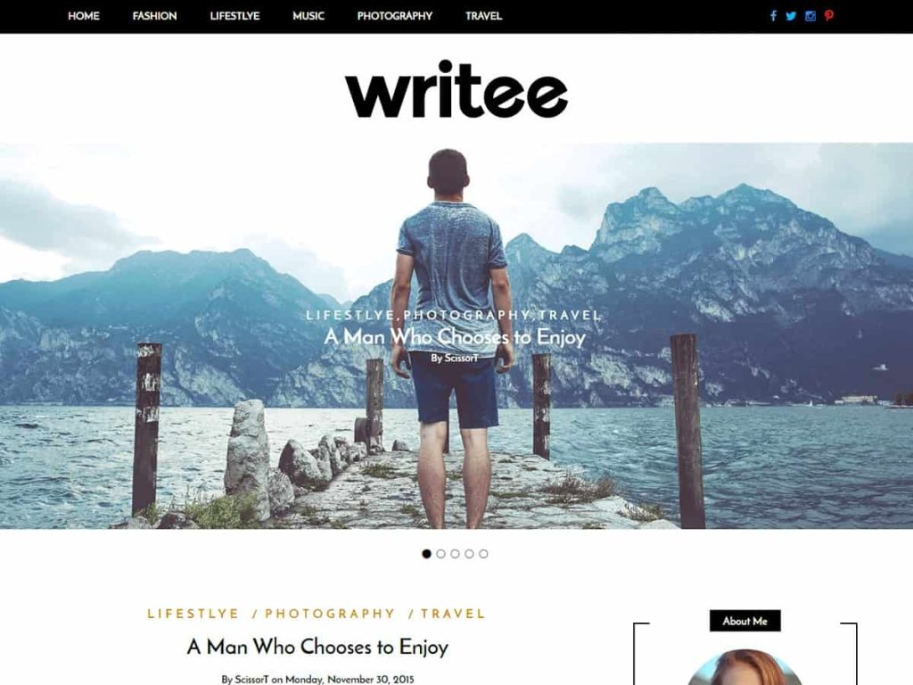 Writee WordPress blog theme