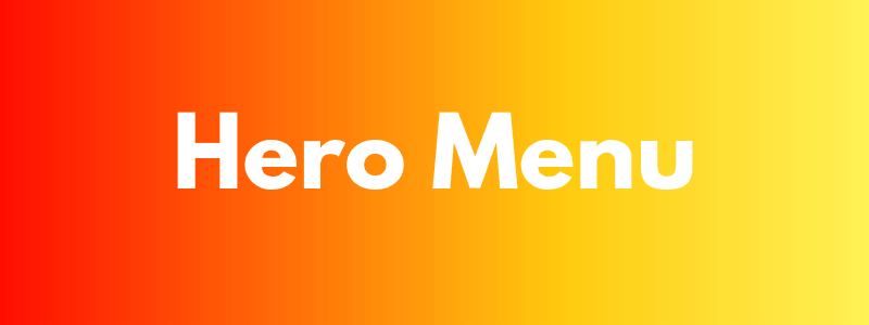 Hero Menu WordPress Mega Menu Plugin