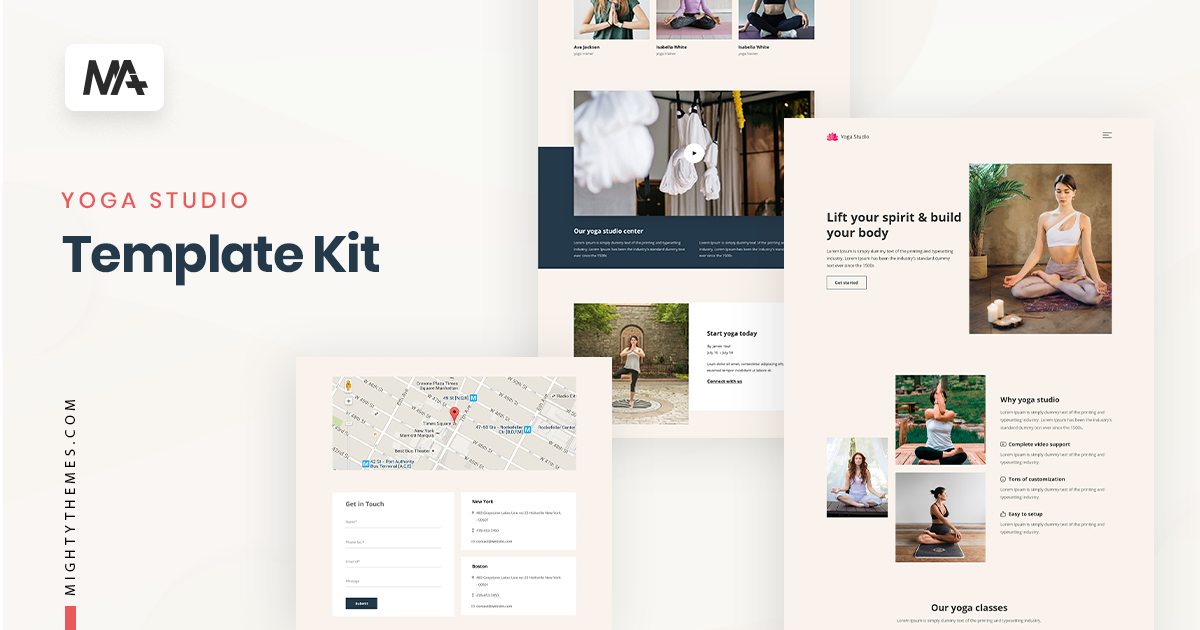 Yoga Website Template Kit